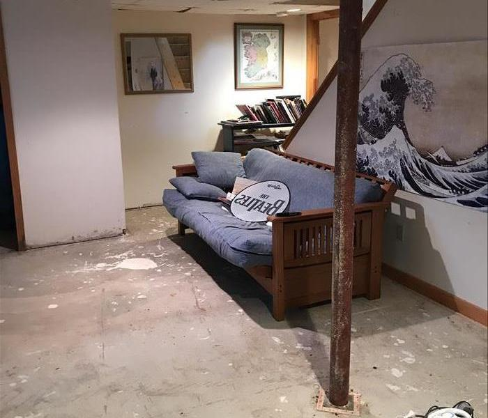 Basement Water Damage in Sandwich, MA  Before