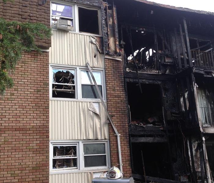 Fire Damage in An Apartment Complex